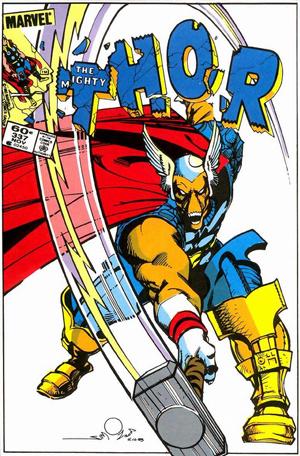 Thor extraterestru cu cap în formă de craniu de cal.